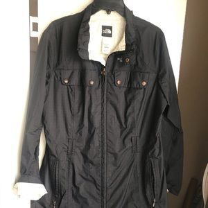 Navy Blue Long Rain Jacket The North Face